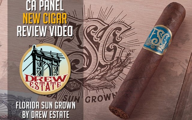 Drew Estate Florida Sun Grown Cigar review FSG cigar rating review video CA Cover