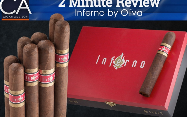 2 minute cigar review inferno cigars by oliva cover
