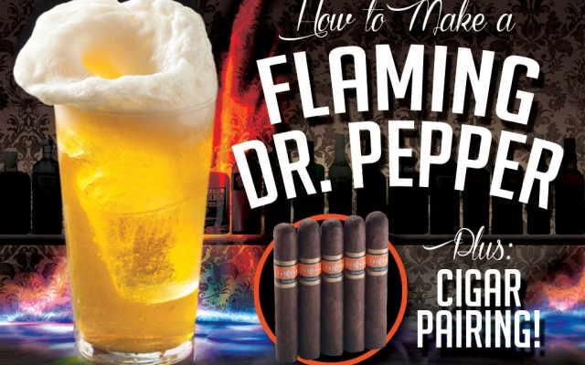 How to make a flaming dr. pepper shot plus cigar pairing recommendation CACover