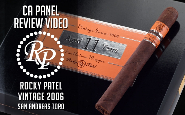 rocky patel vintage 2006 san andreas cigar review video CA Cover