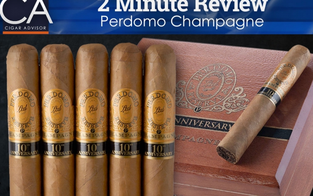 Perdomo Champagne Cigar Review - 2 Minute cigar review CACover