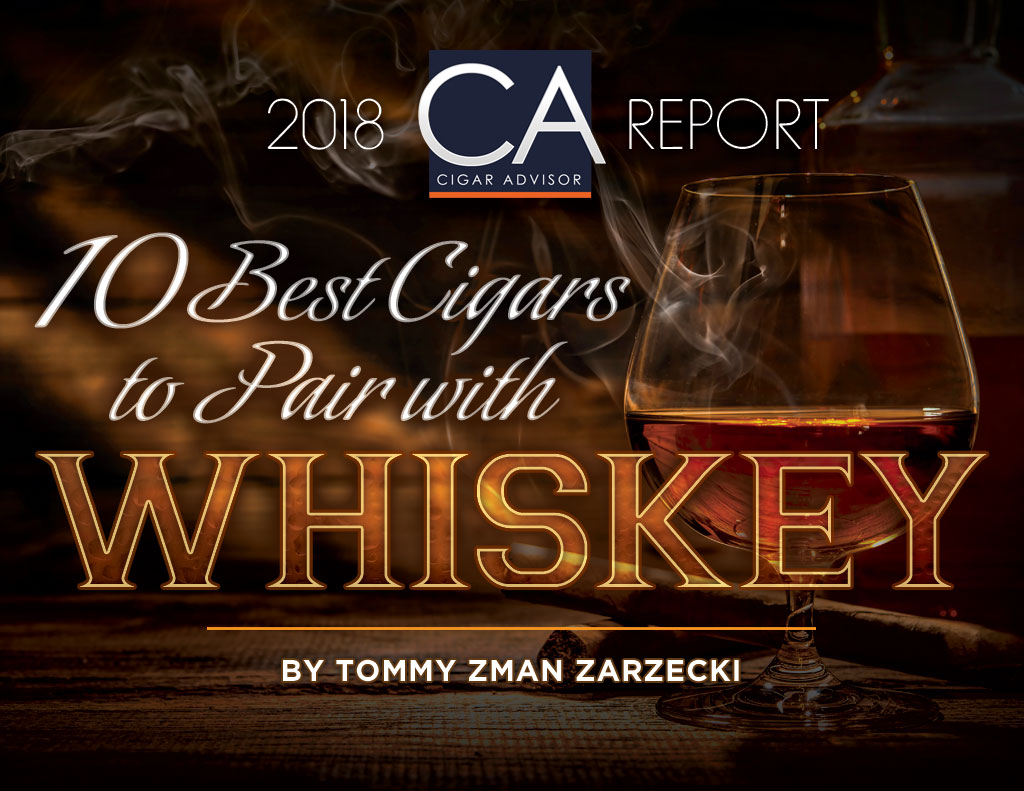 2018 CA Report: 10 Best Cigars to Pair with Whiskey
