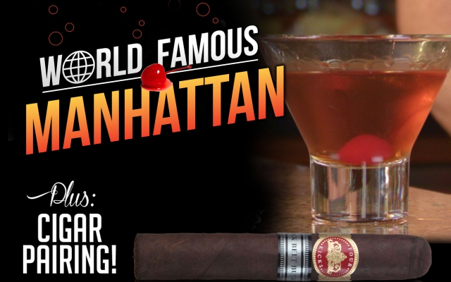 how to make a manhattan cocktail cigar pairing CACover