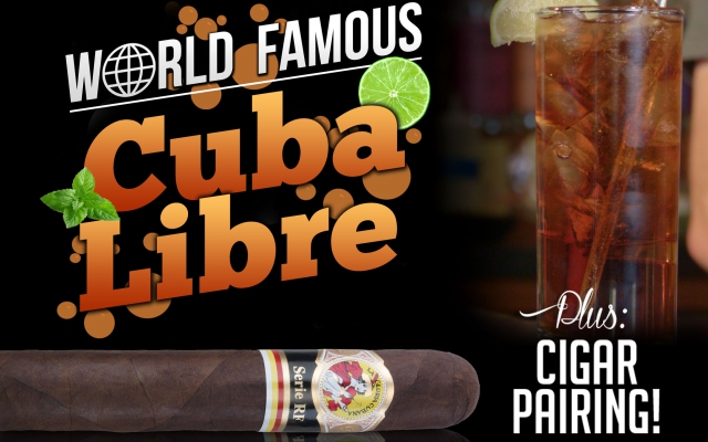 how to make a Cuba Libre cocktail video cigar pairing