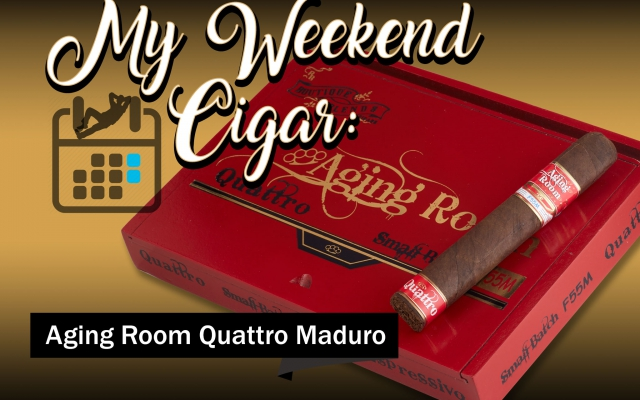 aging room small batch quattro f55M cigar review CA Cover