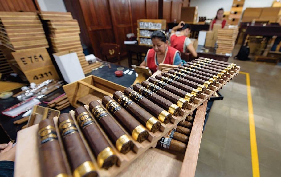 interview nestor plasencia Alma Fuerte Sixto II Hexagon cigars production