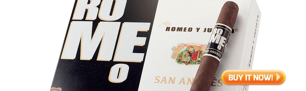 top new cigars april 6 2018 buy romeo y julieta san andres cigars