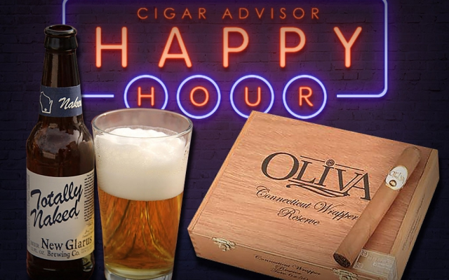 totally naked lager beer cigar pairing oliva connecticut reserve Happy Hour CACover