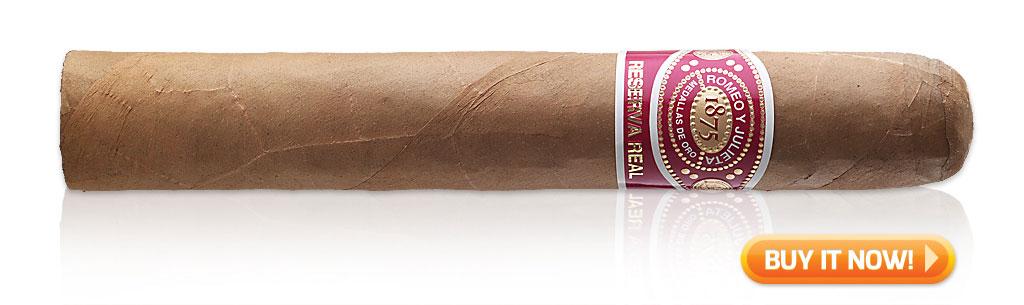 red wine and cigar pairings Romeo Y Julieta Reserva Real cigars