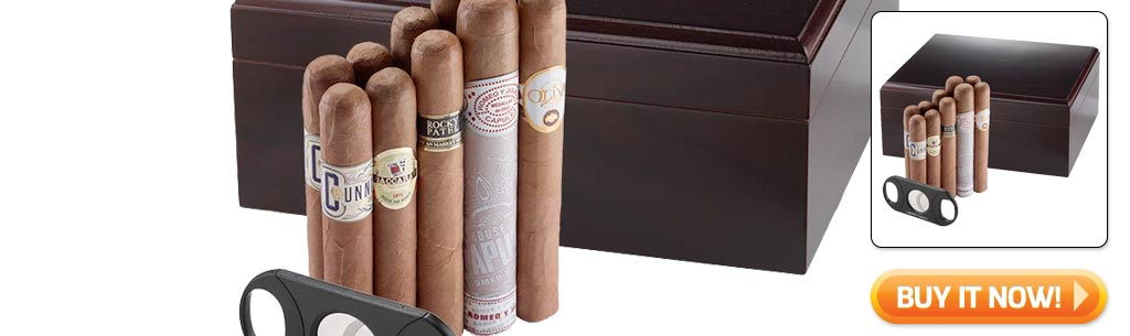 2018 father's day cigar gifts guide deluxe cigar sampler with humidor