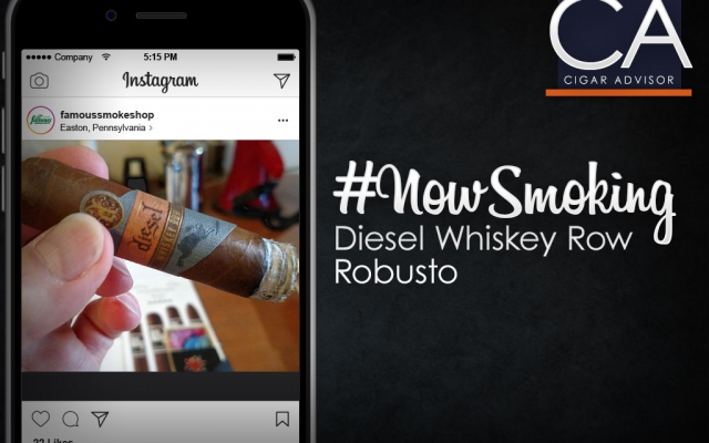 nowsmoking diesel whiskey row cigar review