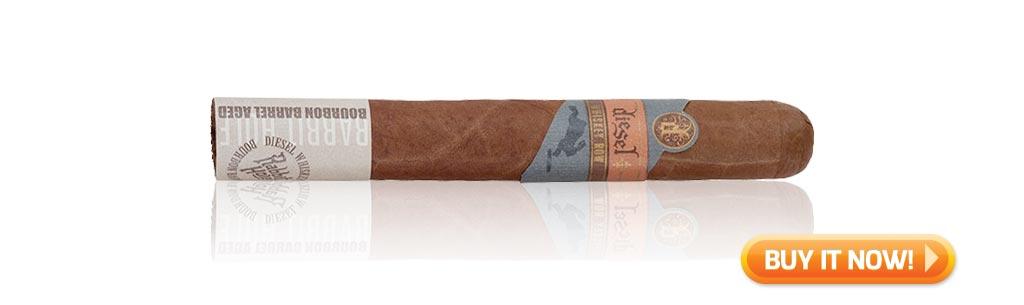 nowsmoking diesel whiskey row cigar review robusto BIN