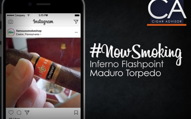 nowsmoking Inferno flashpoint maduro torpedo CACover