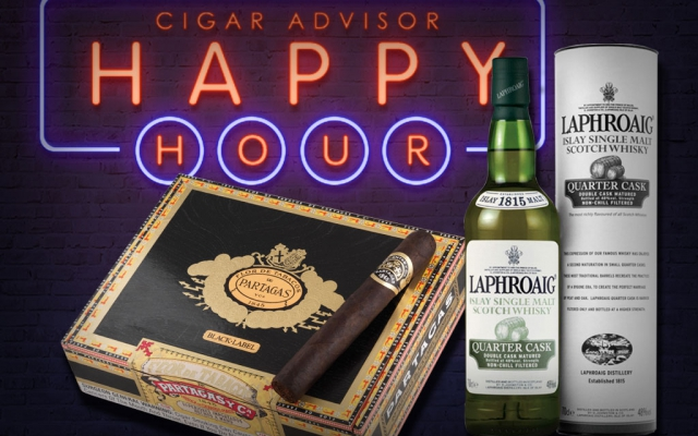 Laphroaig Quarter Cask Partagas Black Label Cigar Pairing CACover