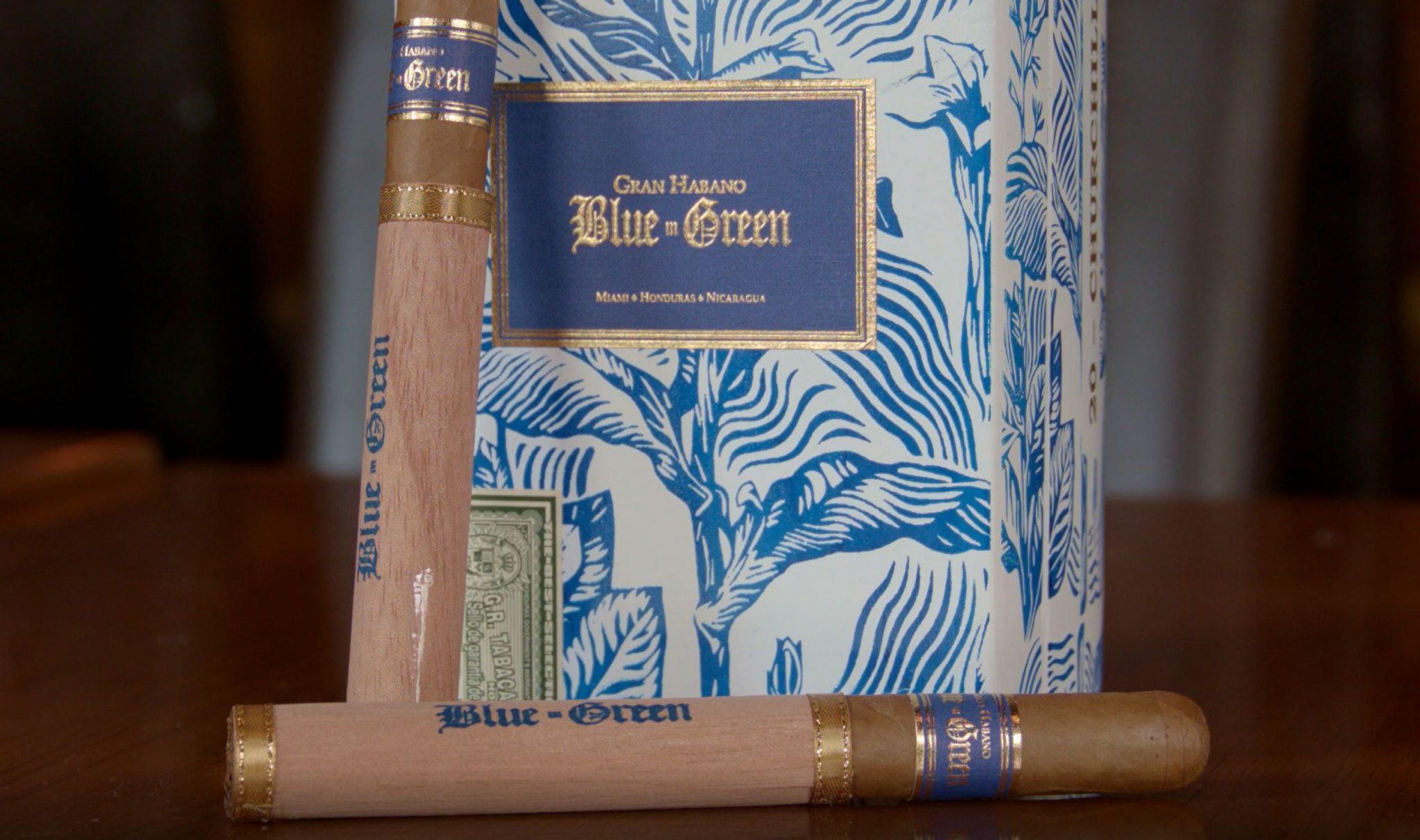 Gran Habano Blue in Green cigar review video - box shot 1