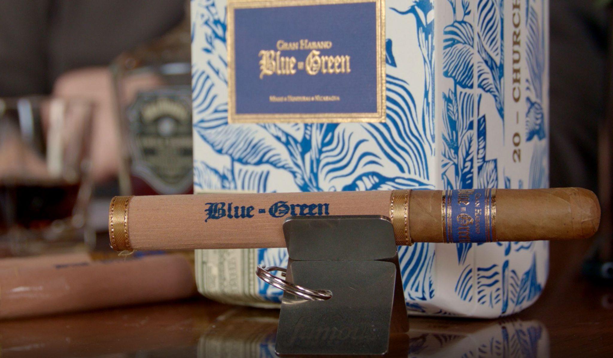Gran Habano Blue in Green cigar review video - box shot 2