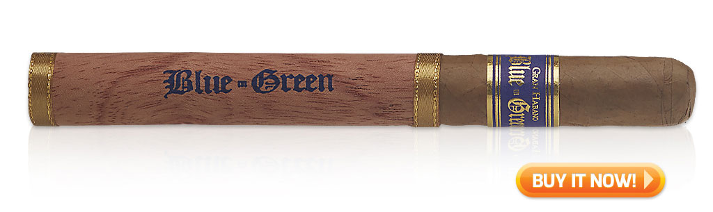Gran Habano Blue in Green Churchill Cigar Review Video - Shop Now at Famous Smoke Shop