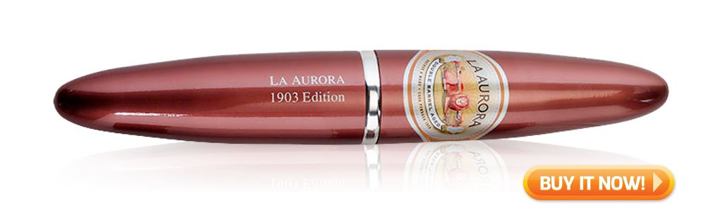 Top 10 Best Cigars to Pair with Rum - La Aurora Preferidos Double Barrel Aged cigars - Buy it Now