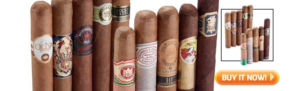 Shop the top 5 best cigar samplers for new cigar smokers - top blends of 2015 cigar sampler - at Famous Smoke Shop