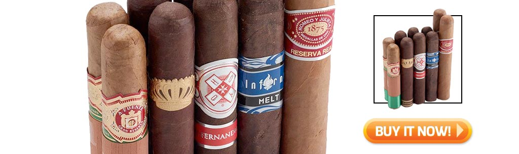 Shop the top 5 best cigar samplers for new cigar smokers - best variety cigar sampler at Famous Smoke Shop