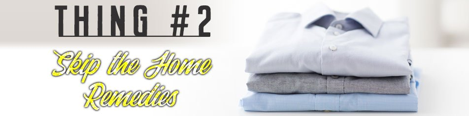 Thing 2 about how to remove smoke smell from your clothes - skip the home remedies