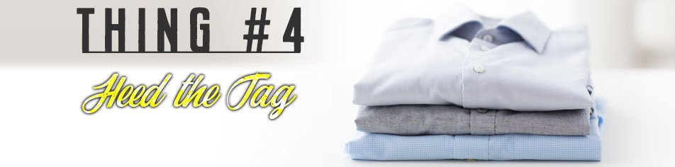 Thing 4 about how to remove smoke smell from your clothes - heed the fabric care tag