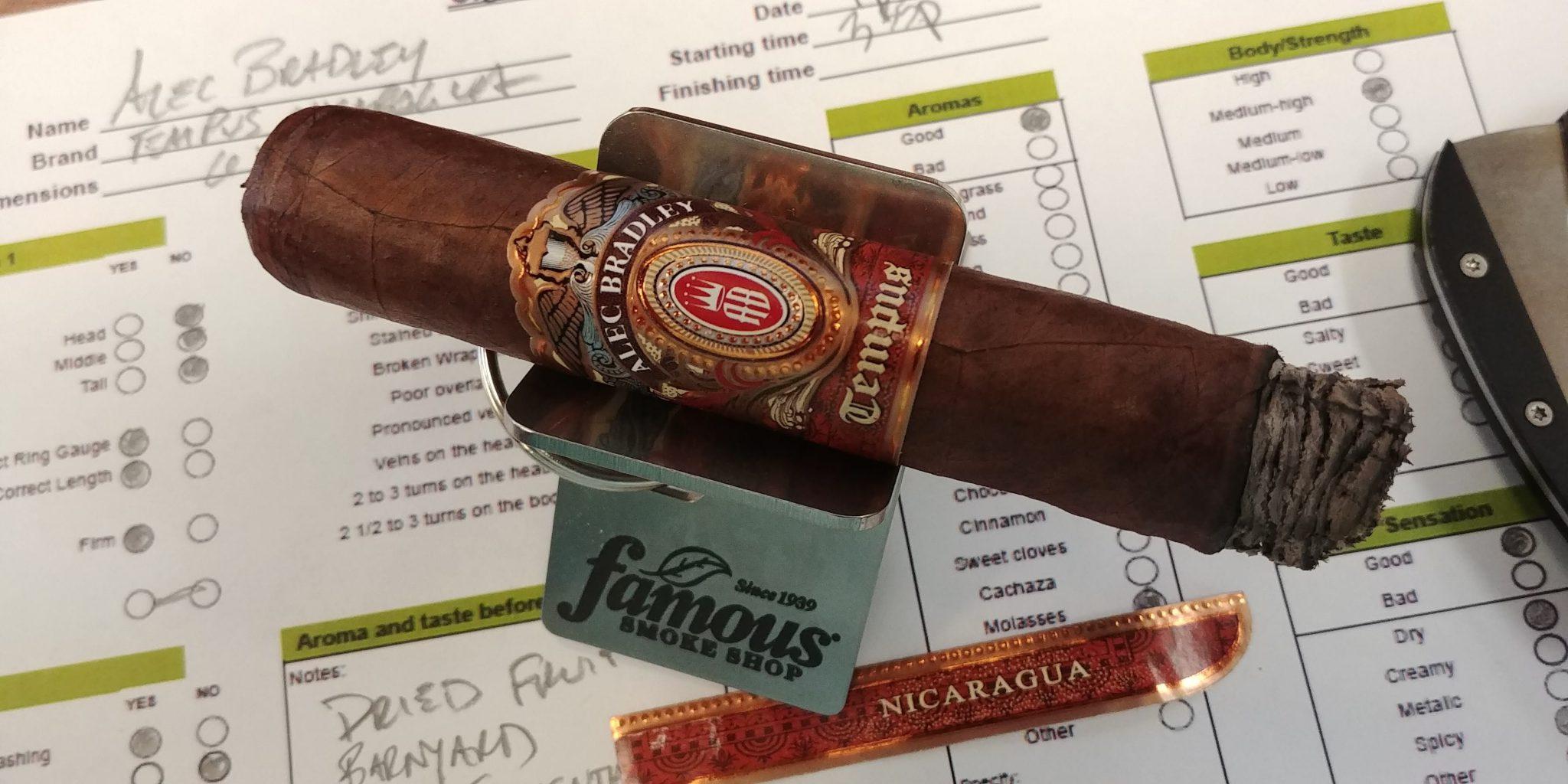 Alec Bradley cigars guide Alec Bradley Tempus Nicaragua Medius 6 Toro cigar review by John Pullo