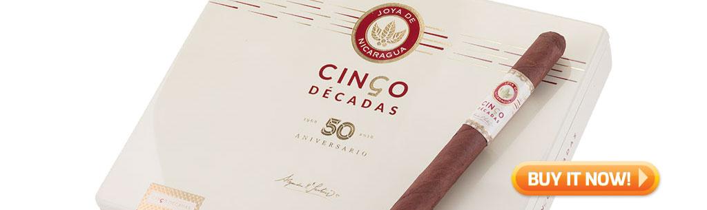 top new cigars jan 21 2019 - joya de nicaragua cinco decadas cigars