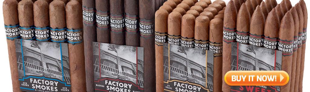 top new cigars jan 21 2019 - drew estate factory smokes cigars BIN