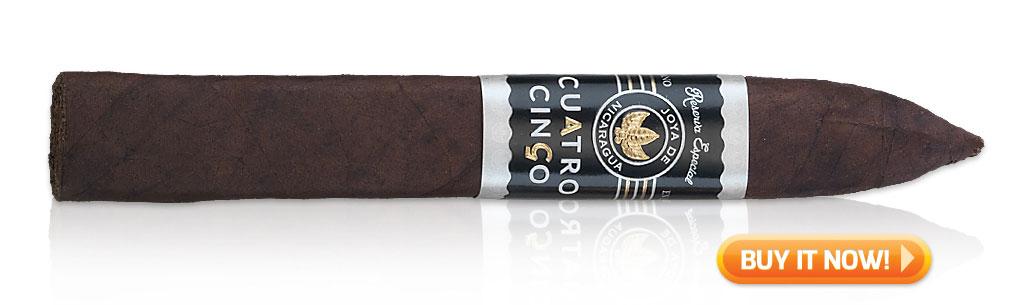 Joya de Nicaragua cigars guide joya de nicaragua jdn cuatro cinco cigar review at Famous Smoke Shop