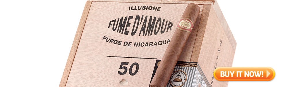 top new cigars March 4 2019 Illusione fume d' amour cigars at Famous Smoke Shop
