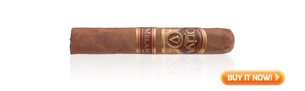 reader's choice top cigars for St. Patrick's Day 2019 Oliva Serie V Melanio cigars at Famous Smoke Shop