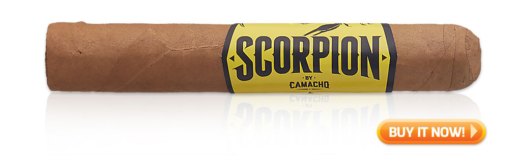 camacho scorpion connecticut cigar review video at Famous Smoke Shop