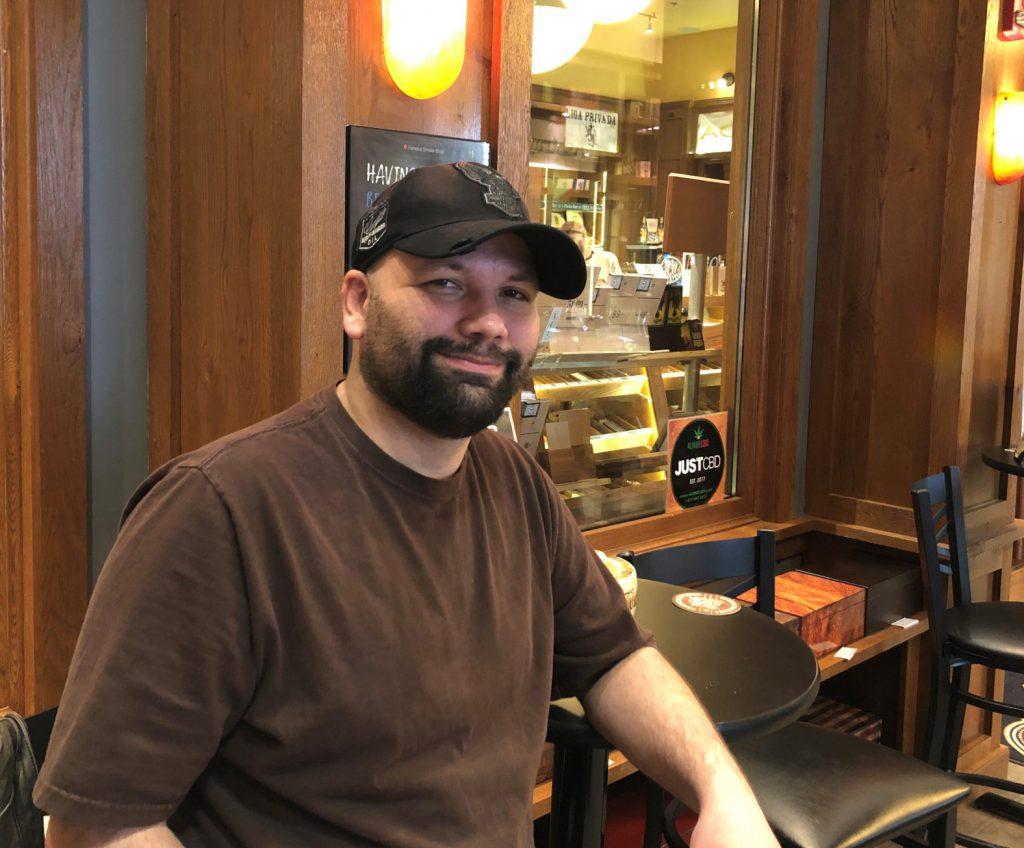 reader's choice top cigars for St. Patrick's Day 2019 CAO Flathead cigars Joe Bilsky at famous Smoke Shop