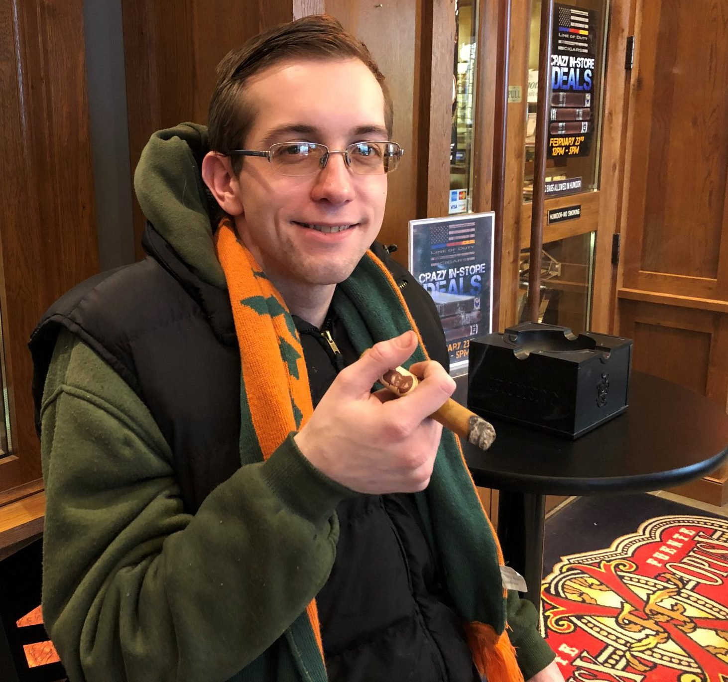 reader's choice top cigars for St. Patrick's Day 2019 Blind Man's Bluff Connecticut cigars Kyle Magda at Famous Smoke Shop