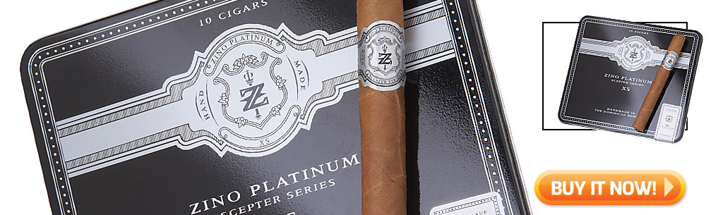 Top Ten Cigarillo and Small Cigar Tins Zino Platinum Scepter XS cigars in tins at Famous Smoke Shop