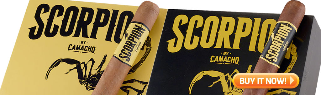 top new cigars march 18 2019 camacho scorpion cigars at Famous Smoke Shop
