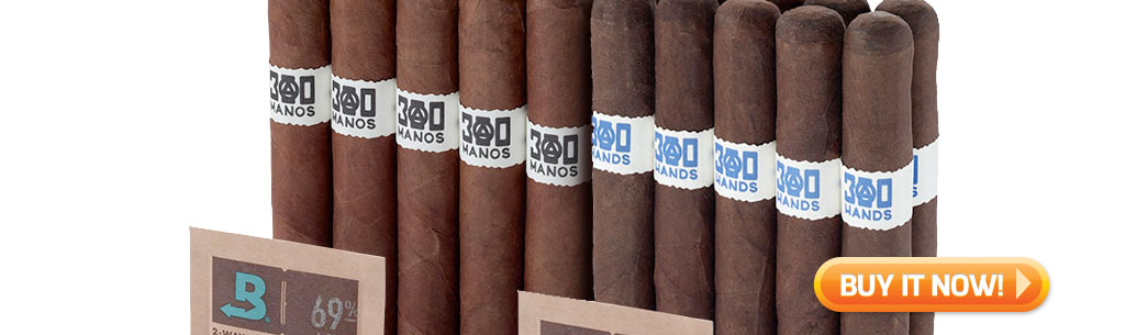 top new cigars april 1 2019 southern draw 300 manos 300 hands cigars at Famous Smoke Shop