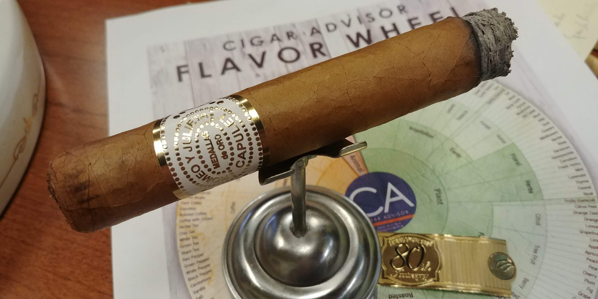 Romeo y Julieta House of Capulet 80th Anniversary cigar review video Toro with Famous Smoke Shop Cigar Flavor Wheel