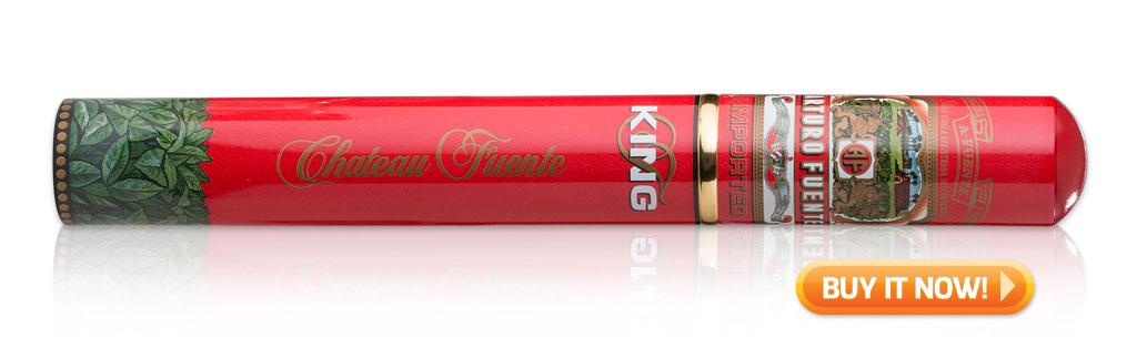 top tubo cigars under 10 dollars cigars in tubes Arturo Fuente King T Rosado tubo cigars at Famous Smoke Shop