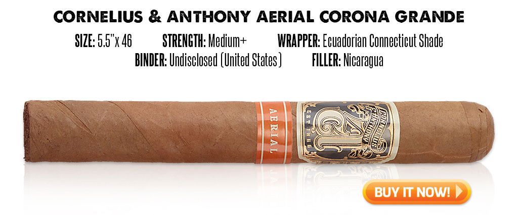 popular connecticut cigar resurgence Cornelius and Anthony Aerial Connecticut cigars at Famous Smoke Shop