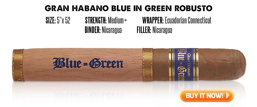 popular connecticut cigar resurgence Gran Habano Blue in Green connecticut cigars at Famous Smoke Shop