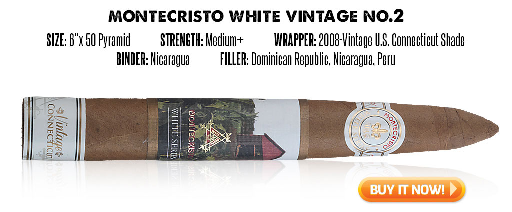 popular connecticut cigar resurgence Montecristo White Vintage connecticut cigars at Famous Smoke Shop