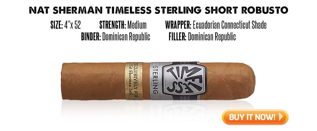 popular connecticut cigar resurgence nat sherman timeless sterling connecticut cigars at Famous Smoke Shop