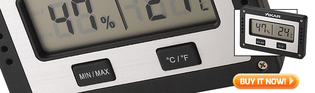 must know humidor tips for warmer weather Xikar digital cigar humidor hygrometer at Famous Smoke Shop