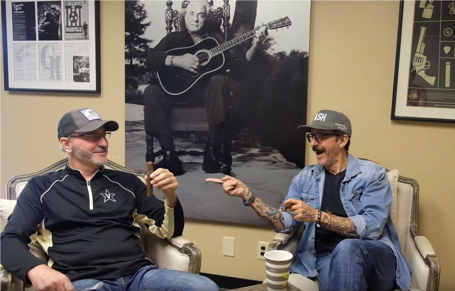 Crowned Heads Cigars Guide Jon Huber Mike Conder at Crowned Heads office
