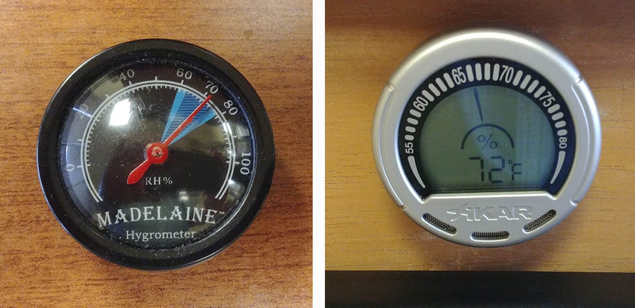 5 Tips for Buying Your First Humidor analog humidor hygrometer and digital humidor hygrometer