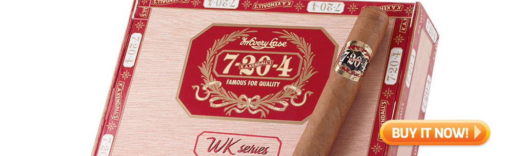 top new cigars buying guide april 15 2019 7-20-4 WK Series cigars at Famous Smoke Shop