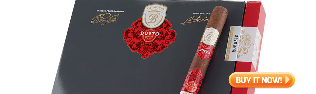 top new cigars buying guide april 15 2019 Balmoral Serie Signaturas Dueto cigars at Famous Smoke Shop