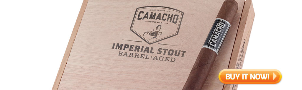 top new cigars apr 29 2019 Camacho Imperial Stout cigars at Famous Smoke Shop